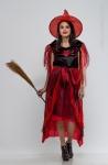 Boszorkány jelmez piros pókos S-es méret